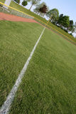 Chalk Line. An interesting perspective of a shot down the left field line Royalty Free Stock Photo