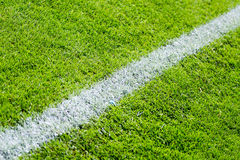 Chalk line on sports field Royalty Free Stock Photos
