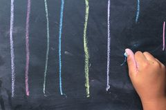 Chalk lines or brushes of writing. Stock Images
