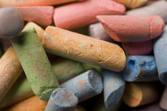 Chalk Macro Stock Photo