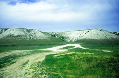 Chalk mountain. Landscapes of Volgograd region Royalty Free Stock Image