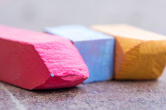 Chalk multicolored Royalty Free Stock Photography