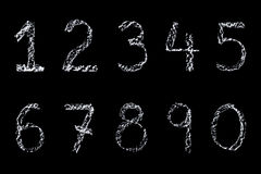 Chalk numbers Royalty Free Stock Image