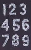 Chalk numbers Royalty Free Stock Photo
