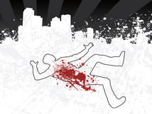 Chalk outline city. Grunge chalk outline city illustration Royalty Free Stock Photos
