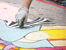 Chalk painter Royalty Free Stock Images