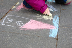 Chalk painting Stock Photo