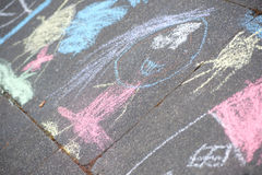 Chalk painting Stock Photography