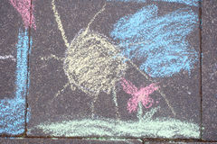 Chalk painting Royalty Free Stock Images