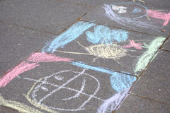 Chalk painting Royalty Free Stock Photo
