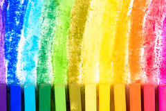 Chalk pastel. Different colors colorful royalty free stock image