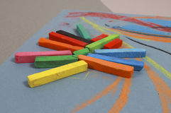 Chalk pastels Stock Image