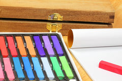 Chalk pastels for drawing Royalty Free Stock Photography