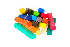 Chalk Pastels Set for Art Drawing Scrapbooking isolated on white Stock Photo
