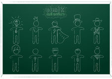 Chalk people. Vector illustration set Stock Photography
