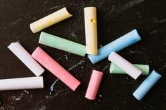 Chalk pieces Stock Images