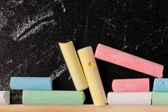 Chalk pieces Stock Photography