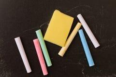 Chalk pieces Stock Photos