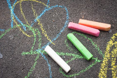 Chalk on playground Stock Image