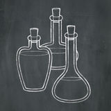 Chalk Potions Stock Image