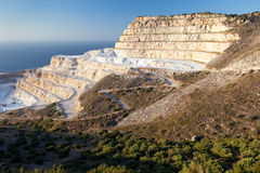 Chalk quarry on the island of Crete Stock Image