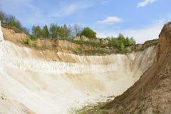 Chalk quarry. Stock Photos