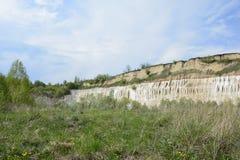 Chalk quarry. Stock Image