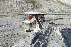 Chalk quarry with stone crusher Royalty Free Stock Photography