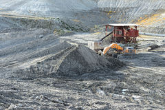 Chalk quarry with stone crusher Royalty Free Stock Photos