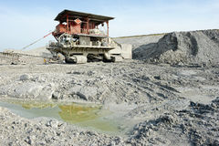 Chalk quarry with stone crusher Stock Images
