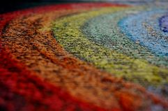 Chalk rainbow Stock Photo