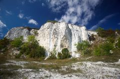 Chalk rock against blue sky Royalty Free Stock Image