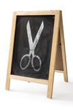 Chalk rubbed out on blackboard isolated Stock Photography