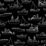 Chalk seamless marine pattern. Royalty Free Stock Photography
