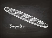 Chalk sketch of bagette Royalty Free Stock Image