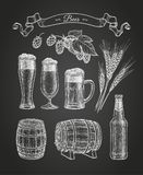 Chalk sketch of beer Royalty Free Stock Photo