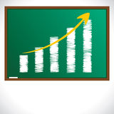 Chalk sketch draw market graph. Stock Stock Image