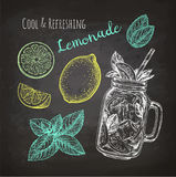 Chalk sketch of lemonade Royalty Free Stock Photo