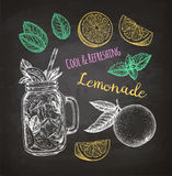 Chalk sketch of lemonade Royalty Free Stock Photography