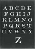 Chalk sketched alphabet characters Stock Images