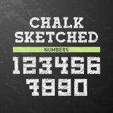 Chalk sketched numbers Royalty Free Stock Photography