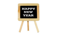 "Chalk Slate the Words ""Happy New Year"" Stock Photography"