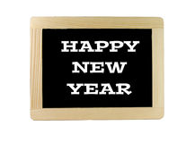 "Chalk Slate the Words ""Happy New Year"" Royalty Free Stock Photos"