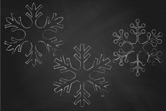 Chalk Snowflakes Royalty Free Stock Image