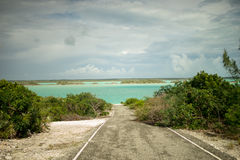 Chalk Sound Road Royalty Free Stock Photography