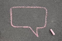Chalk speech bubble Stock Photography