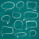 Chalk speech bubbles Stock Photos