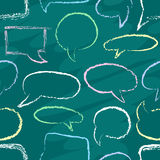 Chalk speech bubbles seamless Royalty Free Stock Photos