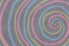 Chalk with spin cycle on chalkboard background Royalty Free Stock Photos