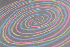 Chalk with spin cycle on chalkboard background Royalty Free Stock Photo